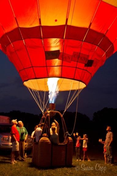 Ram Hot Air Balloon Glow