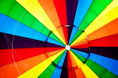 Inside Rainbow Hot Air Balloon