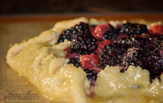 Blackberry & Strawberry Rustic Tart